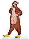kigurumi Pyjamas New Cosplay® Singe Collant/Combinaison Fete / Celebration Pyjamas Animale Halloween Marron Mosaique Polaire Kigurumi Pour