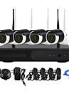 yanse® plug and play 4ch trådlös NVR kit p2p 960p hd ir mörkerseende säkerhet IP-kamera WiFi CCTV-system