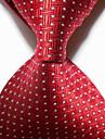 Roșu legat de cravată de jacquard pentru bărbați