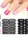 1 Sticker Manucure  Manucure Pochoir Autocollants 3D pour ongles Abstrait Maquillage cosmetique Manucure Design