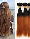 Tissages de cheveux humains Cheveux Peruviens Droit 6 Mois 3 Pieces tissages de cheveux