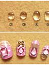 Vackert-Finger / Tå-Andra Dekorationer- avAndra-Mix designs 10pcs- styck5mm to 8mm- cm