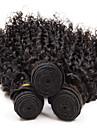 3pcs 8-26inch bresilienne de cheveux boucles vierge profonde couleur # 1b non transformes cheveux de vierge de premiere tisse vente