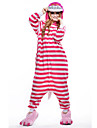 Kigurumi Pajamas New Cosplay® / Cat Leotard/Onesie Halloween Animal Sleepwear Pink Patchwork Polar Fleece Kigurumi UnisexHalloween /