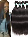 """4 st / lot 8 """"-30"""" peruanska jungfru hår rakt mänskliga hårförlängningar 100% obearbetat peruanska remy hår väver"""