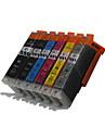 bloom®550bk + 551bk / c / m / y / gy cartouche d\'encre compatible pour canon mg5450 / mg6350 / mg6450 / mg7150 / mx925 / mx725 / ix6850 /