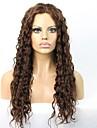 i lager djupt lockigt mänsklig jungfru hår limfria spets front peruk med baby hår för svarta kvinnor