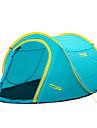 Vattentät / Mateial som andas / Regnsäker / Damm säker / Anti Insekt / Vindskyddad / Ultra Lätt (UL)-Tält(Grön / Pärsiko / himmelsblå,2