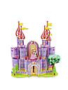Puzzles Puzzles 3D Building Blocks DIY Toys Chateau Papier Violet / Jaune Maquette & Jeu de Construction