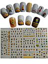 Tecknat / Vackert-Finger / Tå-3D Nagelstickers- avAndra-11pcs  11design- styck6.5*5.5cm- cm