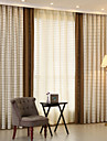 Deux Panneaux Neoclassique / Mediterraneen / Europeen / Rustique / Moderne Tartan / Ecossais Beige / Rouge Chambre a coucherMetisse Lin