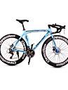 Dequilon aluminum road bike 21/18/16 muscle machete-speed disc brakes clear blue 21-speed Sport