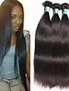 3 st / lot 8-30inches peruanska virgin hår rakt obearbetat jungfru hår peruanska människohår väva buntar