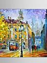 pictate manual abstract / peisaj / abstract peisaj european pictura in ulei stil, panza un panou