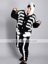 Kigurumi Pyjamas Skelett Leotard/Onesie Halloween Animal Sovplagg Svart/Vit Tryck Polar Fleece Kigurumi Unisex Halloween / Karnival