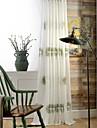 Deux Panneaux Le traitement de fenetre Europeen Rustique Moderne Neoclassique Mediterraneen , Feuille Salle de sejour Polyester Materiel
