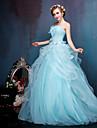 Da principessa Abito da sposa Abiti sposa colorati Lungo Senza spalline Pieghettato / Di pizzo / Tulle / Raso elasticizzato conA fantasia