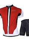 NUCKILY® Maillot et Cuissard de Cyclisme Homme Manches courtes VeloRespirable Sechage rapide Pare-vent Design Anatomique Resistant aux