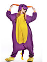 kigurumi Pyjamas New Cosplay® Dragon Dinosaure Collant/Combinaison Fete / Celebration Pyjamas Animale Halloween Violet Mosaique Polaire