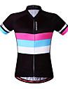 Wosawe® Maglia da ciclismo Per donna Maniche corte BiciclettaTraspirante / Asciugatura rapida / Antivento / Design anatomico / Strisce
