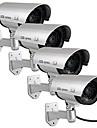 kingneo 4st utomhus falska / dummy kamera för säkerhet vattentät kameraövervakning