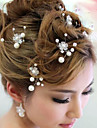 Femei Perle Diadema-Nuntă Ocazie specială Clipuri de Păr Ac de Păr 6 Piese