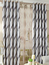 Two Panels Modern Geometic Living Room Polyester Blackout Curtains Drapes
