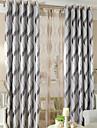 Två paneler Fönster Behandling Modern , Geometrisk Vardagsrum Polyester Material Mörkläggning Gardiner draperier Hem-dekoration For