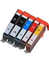 bloom®178bk / PGBK / c / m / y kompatibel bläckpatron för HP C6300 / C5300 / Smart C5380 / d5400 / d5460 / C309a / c309c fullt bläck (5