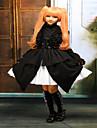 One-piece/Klänningar Gothic Lolita / Sweet Lolita / Klassisk/Traditionell Lolita Steampunk® Cosplay Lolita Klänning Svart Enfärgat Ärmlös