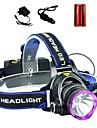 Eclairage Lampes Frontales LED 2000 Lumens 3 Mode Cree XM-L T6 18650Faisceau Ajustable / Etanche / Rechargeable / Resistant aux impacts /