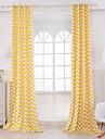Två paneler Designer Rand Orange Living Room Bomull Panelgardiner draperier