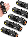Lights LED Flashlights/Torch LED 2000 Lumens 3 Mode Cree XR-E Q5 14500 / AAAdjustable Focus / Waterproof / Impact Resistant / Strike
