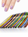 Abstrakt-Finger / Tå-3D Nagelstickers- avAndra-10pcs nail striping tape line stickers- styck0.1cm for the wideth- cm