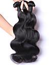 3st lot 100% malaysian virgin hår vågigt mänskliga hårförlängningar naturligt svart hår väver