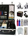 kit de tatouage basekey Machine jhk052 2 machines avec poignees d\'alimentation de nettoyage des aiguilles d\'encre brosse