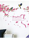 Djur Botanisk Ord & Citat Romantik Blommig Landskap Väggklistermärken Väggstickers Flygplan Dekrativa Väggstickers MaterialKan tas bort