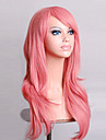 70 cm Long Curly Smoke Pink Hair Air Volume High Temperature Silk Wig