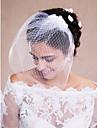 Velos de Boda 1 capa Corto o Blusher / Velo para cabello corto / Accesorios de cabello para velo Crudo Tul Blanco Blanco