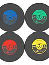 1st vintage vinyl underlägg groovy cd rekord bord bar drycker kopp matta (ramdon färg)