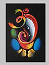 100% pictura in ulei pictat manual om Ganesha Ganpati pe home decor arta panza de perete un panou gata să stea