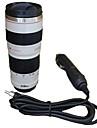 450 ml kameralins mugg resa uppvärmning kopp biladapter rostfritt stål liner isolering kopp kaffe elektrisk mugg