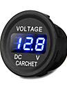 camion de voiture moto dc bleu voltmetre voltmetre conduit 12-24v d\'affichage numerique