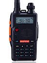 Baofeng UV-5R5TH-BLK Walkie-talkie 5W/1W 128 136-174 mHz / 400-520MHz 1800mAh 1,5-3 kmFM-radio / Röstprompt / Dubbelband / Dubbel display
