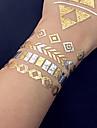 Airbrush-tatueringsstenciler- tillVuxen / Tonåring-Guld-PVC-1- styck26*16*0.2