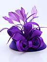 Femei Satin Pană Flanelă Diadema-Nuntă Ocazie specială Informal Exterior Pălărioare 1 Bucată
