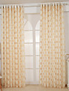 Un Panneau Moderne / Europeen / Designer Solide Jaune Salle de sejour Polyester Sheer Rideaux Shades