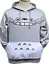 Inspire par Mon voisin Totoro Chat Anime Costumes de cosplay Hoodies Cosplay Imprime Gris Manche Longues Top / Plus d\'accessoires