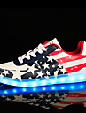 Homme-Decontracte Sport-Multi-couleur-Talon Plat-Light Up Chaussures ConfortSimilicuir