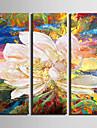 fantasi / Botanisk Canvastryck Tre paneler Redo att hänga,Vertikal